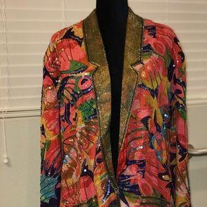Vintage Creative Creations size 4X sequin blazer
